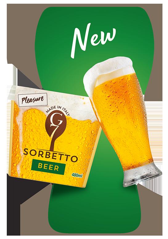 Nuovi sorbetti alla birra di G7 Gelati